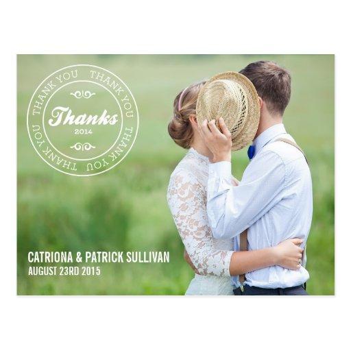 THANK YOU STAMP 2014 | WEDDING THANK YOU POSTCARD