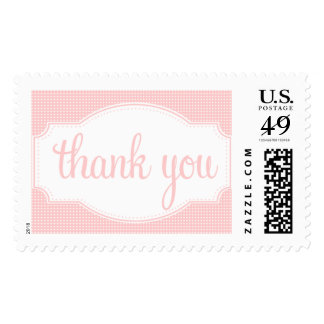 Thank You Stamp Pink Dots