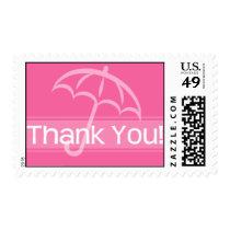 Thank You Stamp Pink Umbrella