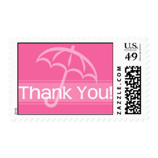 Thank You Stamp Pink Umbrella