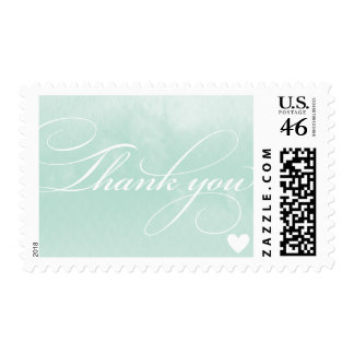 THANK YOU STAMPS ombre watercolor pale mint green