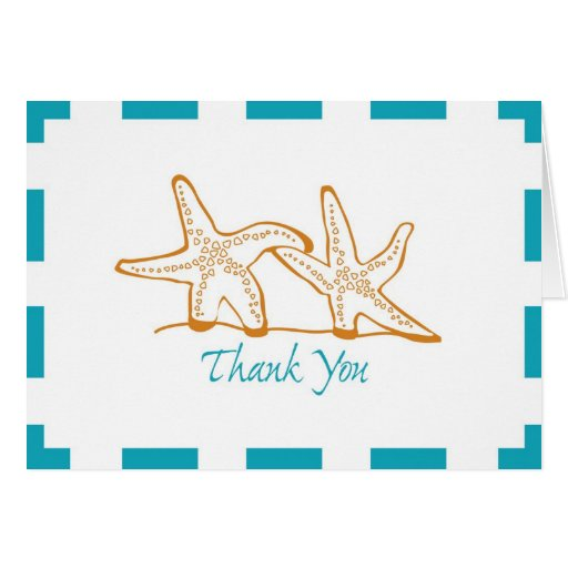 Thank You Starfish Stationery Note Card