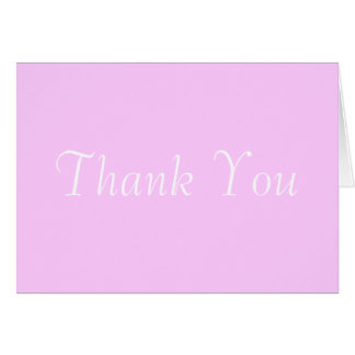 Thank You Stationery Note Card