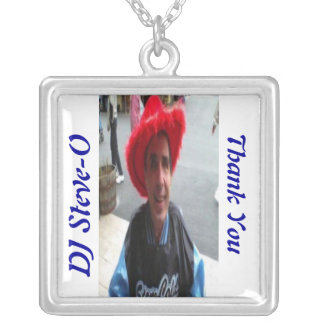 Thank You Steve-O Square Pendant Necklace