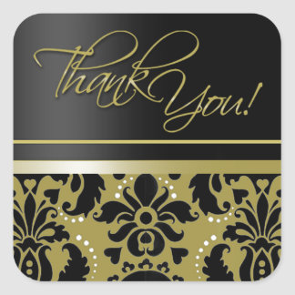 Thank You Sticker (Chaucer/black gold)