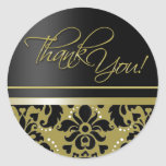 Thank You Sticker (Chaucer/black gold)
