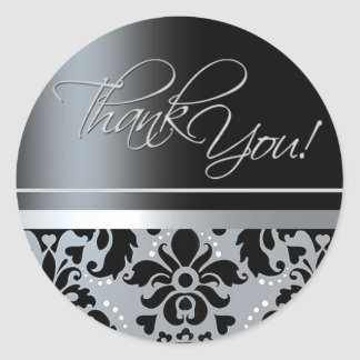 Thank You Sticker (Chaucer/black silver)