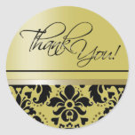 Thank You Sticker (Chaucer/golden black)