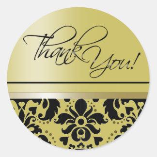 Thank You Sticker (Chaucer/golden black)