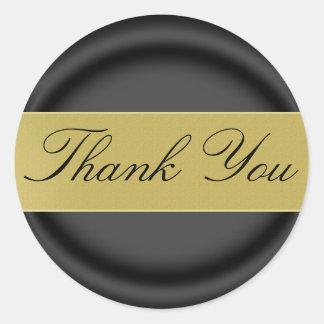 Thank You Sticker/Seal Classic Round Sticker