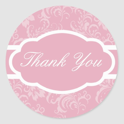 Thank You Sticker (Sophisticated Mauve Pink)