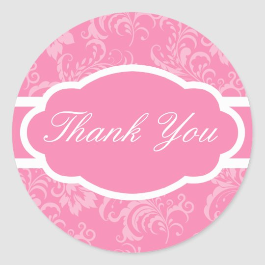 Thank You Sticker (Sophisticated Pink)
