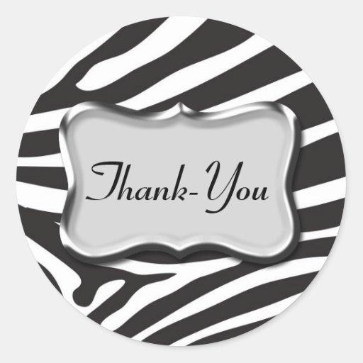 Thank-You Sticker Zebra