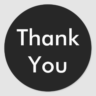 Thank You Stickers - Black