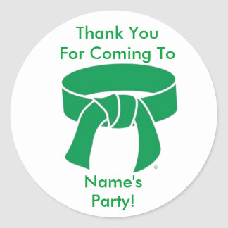 Thank You Stickers Martial Arts Green Belt