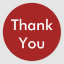Thank You Stickers on Red Background sticker