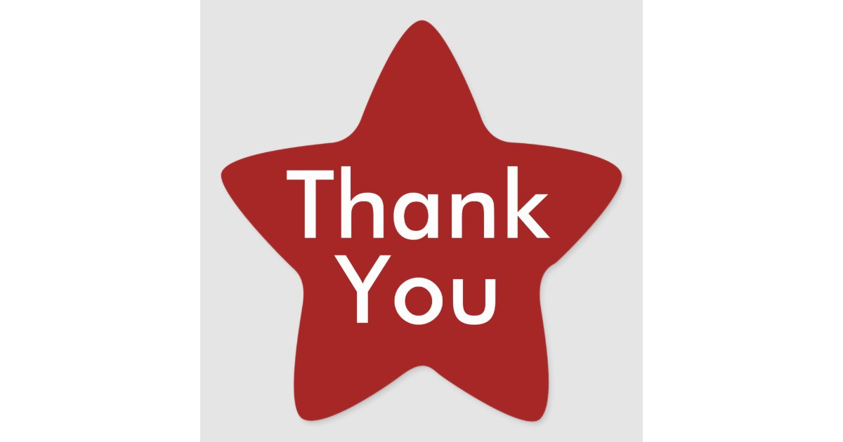 Thank You Stickers On Red Background Zazzle