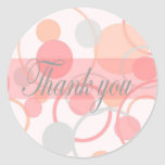 Thank You Stickers - Round