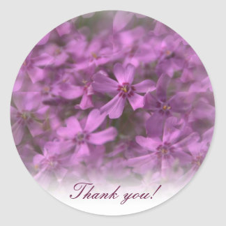 Thank you - Stickers with pink little flowers