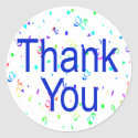 Thank You Stickers with Streamers sticker