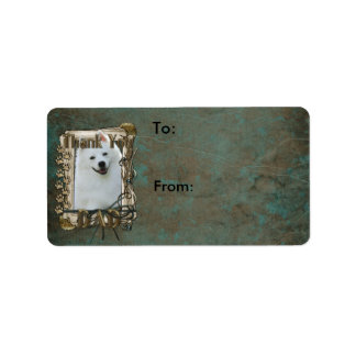 Thank You - Stone Paws - American Eskimo - Dad Address Label