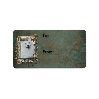 Thank You - Stone Paws - American Eskimo Custom Address Labels