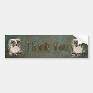 Thank You - Stone Paws - Australian Shepherd - Dad Bumper Sticker
