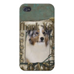 Thank You - Stone Paws - Australian Shepherd - Dad Cases For iPhone 4