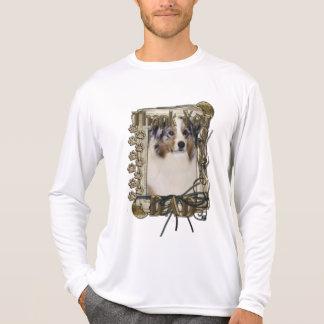 Thank You - Stone Paws - Australian Shepherd - Dad T-Shirt