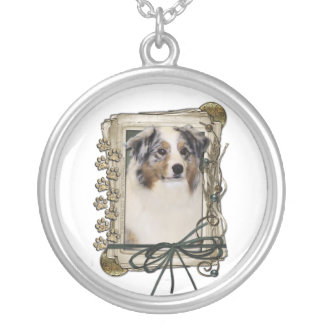Thank You - Stone Paws - Australian Shepherd Necklace