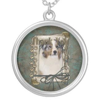 Thank You - Stone Paws - Australian Shepherd Custom Necklace