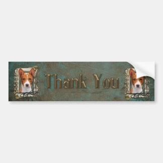 Thank You - Stone Paws - Basenji Bumper Sticker