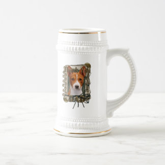 Thank You - Stone Paws - Basenji - Dad Coffee Mug