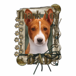 Thank You - Stone Paws - Basenji - Dad Statuette