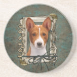 Thank You - Stone Paws - Basenji Drink Coasters