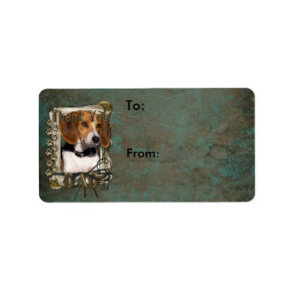 Thank You - Stone Paws - Beagle - Dad Label