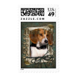Thank You - Stone Paws - Beagle Postage Stamps