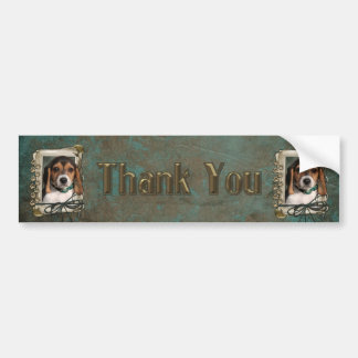Thank You - Stone Paws - Beagle Puppy Bumper Sticker