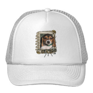 Thank You - Stone Paws - Beagle Puppy - Dad Trucker Hat