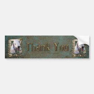 Thank You - Stone Paws - Bedlington Terrier - Dad Bumper Sticker
