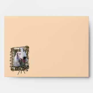 Thank You - Stone Paws - Bedlington Terrier - Dad Envelope