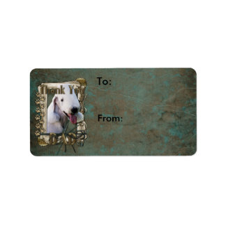 Thank You - Stone Paws - Bedlington Terrier - Dad Label