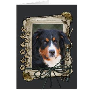 Thank You - Stone Paws - Bernese Mountain Dog Card