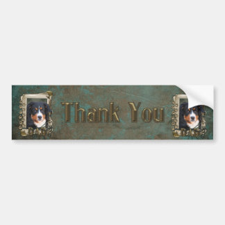 Thank You - Stone Paws - Bernese Mountain Dog- Dad Bumper Sticker