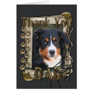 Thank You - Stone Paws - Bernese Mountain Dog- Dad Card