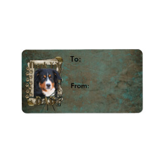 Thank You - Stone Paws - Bernese Mountain Dog- Dad Personalized Address Label