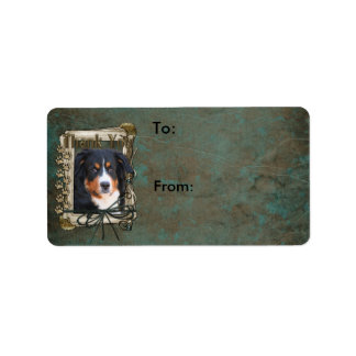 Thank You - Stone Paws - Bernese Mountain Dog Personalized Address Label