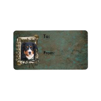 Thank You - Stone Paws - Bernese Mountain Dog Label