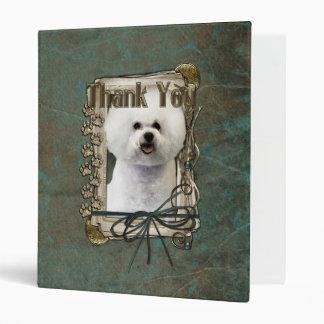Thank You - Stone Paws - Bichon Frise 3 Ring Binder