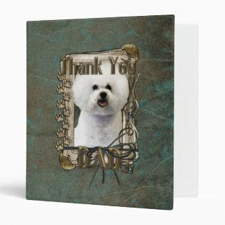 Thank You - Stone Paws - Bichon Frise - Dad 3 Ring Binder